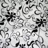 Black on White Klex - Designer Fabrics Napkins Rental Fabric Sample